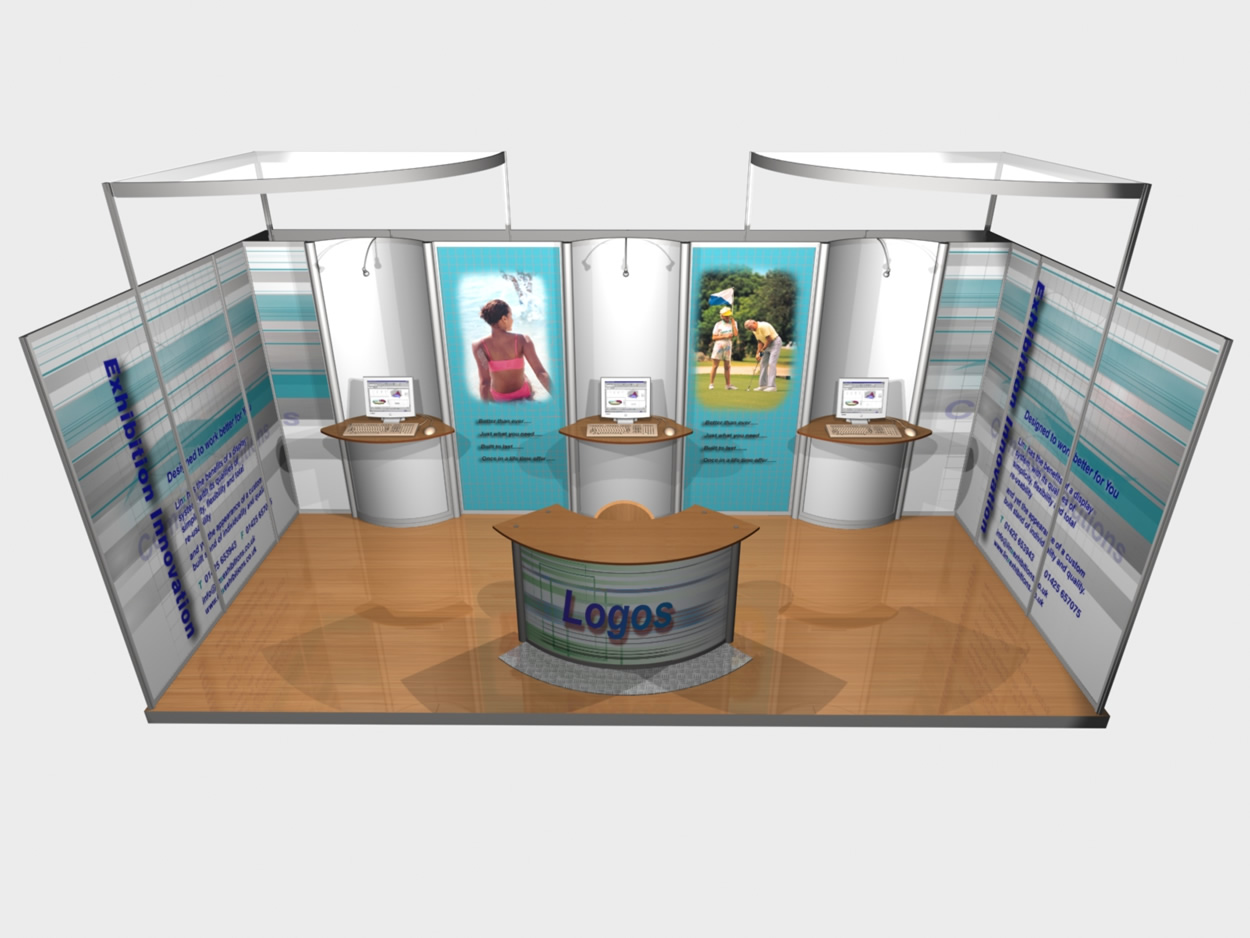 Portable Exhibition Display Stands : Aluminium frame profile in uk phi exhibition