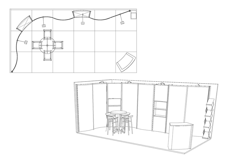Exhibition Stand Drawing : Exhibition stand design with autocad software
