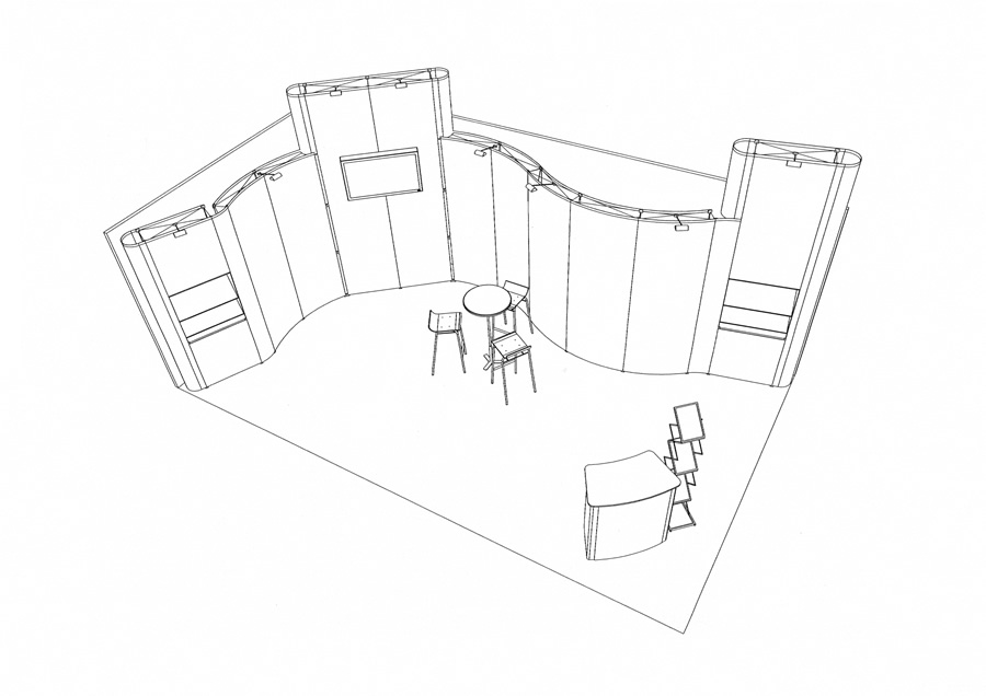 Exhibition Stand Design Sketchup : Exhibition stand design with autocad software